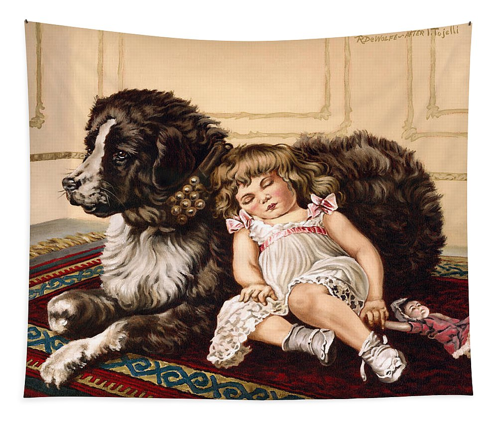 Victorian Tapestry featuring the painting Best Friends by Richard De Wolfe