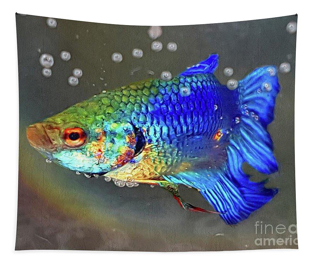 Betta Fish Tapestry featuring the painting Betta Fish by Daniel Janda