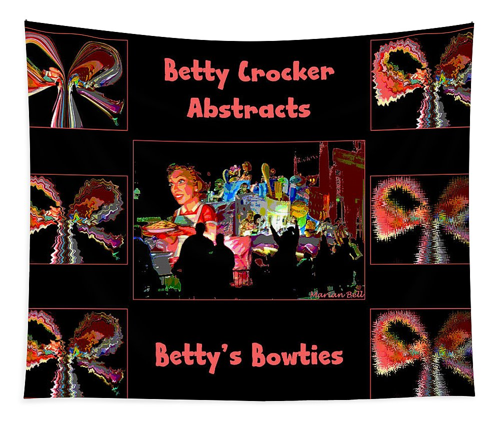 Digital Art Tapestry featuring the photograph Betty Crocker's Abstracts - Betty's Bowties by Marian Bell