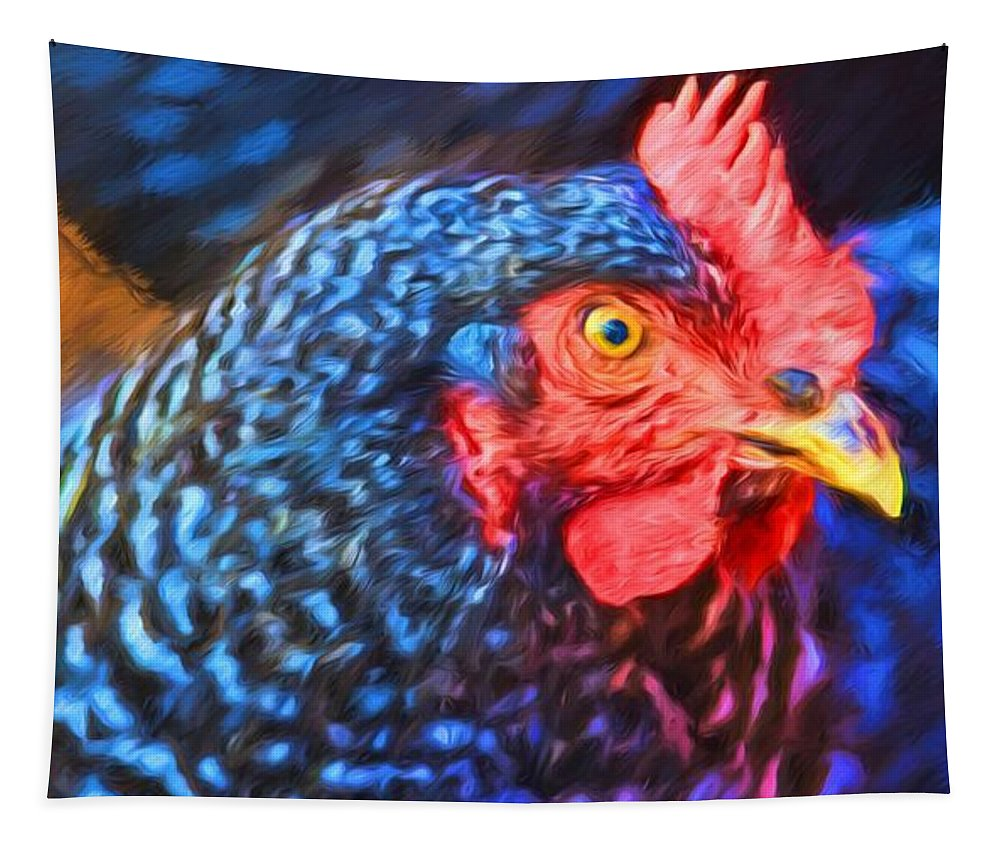 Alicegipsonphotographs Tapestry featuring the photograph Beverlys Chicken by Alice Gipson