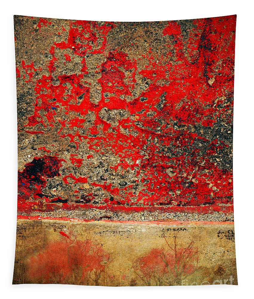 Trees Tapestry featuring the photograph Beyond The Peeling Paint by Tara Turner