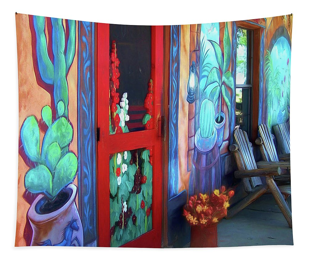 Porch Tapestry featuring the photograph Bienvenidos by Nikolyn McDonald