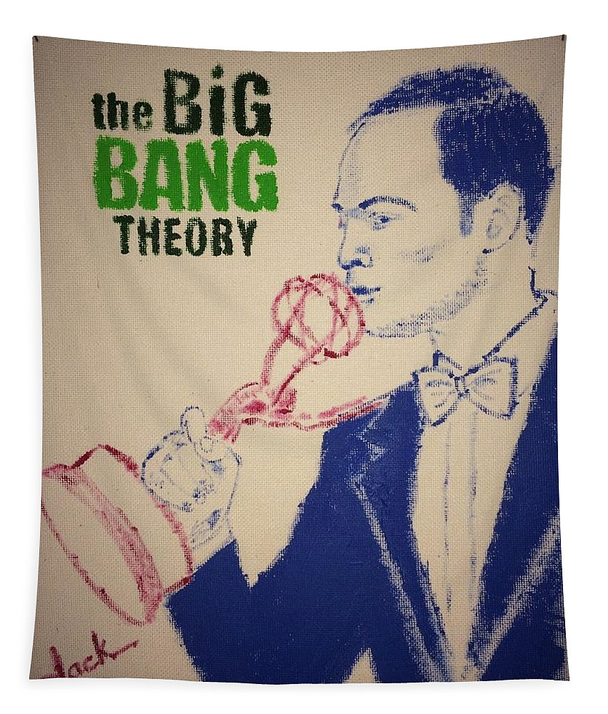 Sheldon Tapestry featuring the painting Big Bang Theory by Jack Bunds