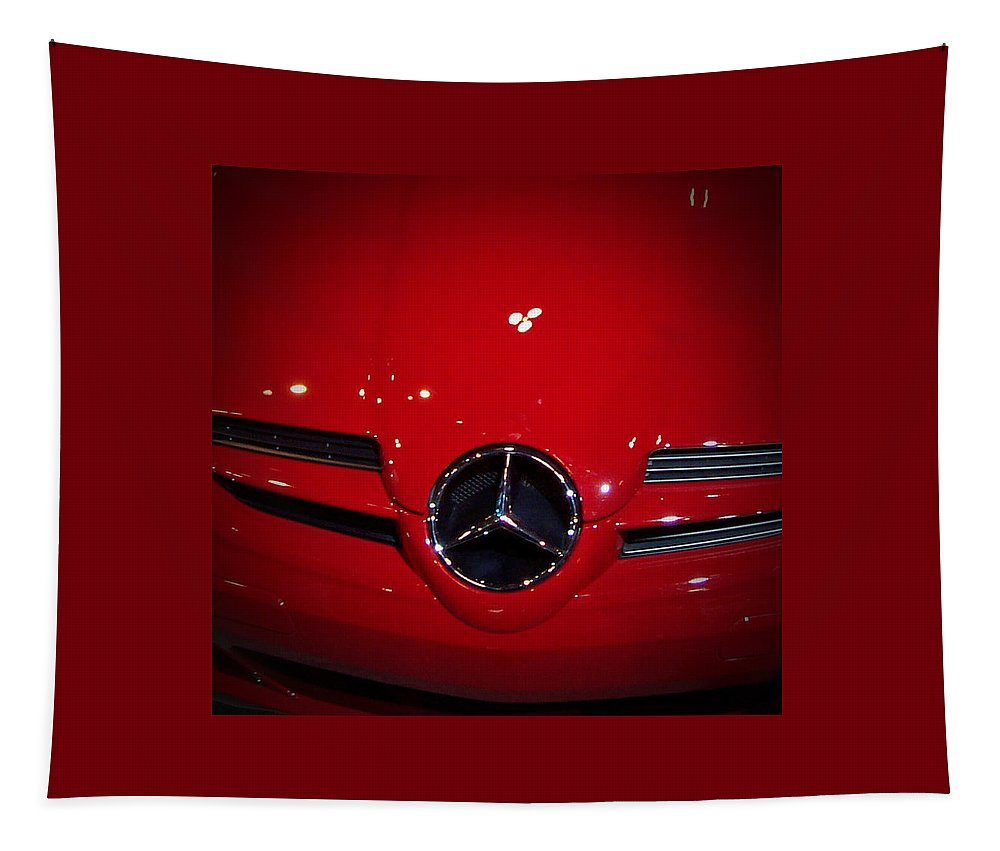 Picture Tapestry featuring the photograph Big Red Smile - Mercedes-Benz S L R McLaren by Serge Averbukh