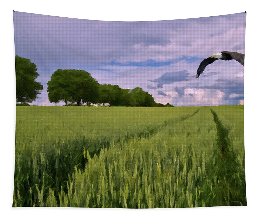 Eagle Tapestry featuring the photograph Big Sky by David Dehner