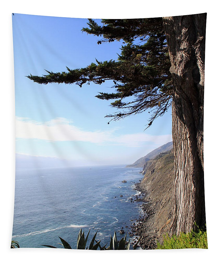 Coast Tapestry featuring the photograph Big Sur Coastline by Linda Woods