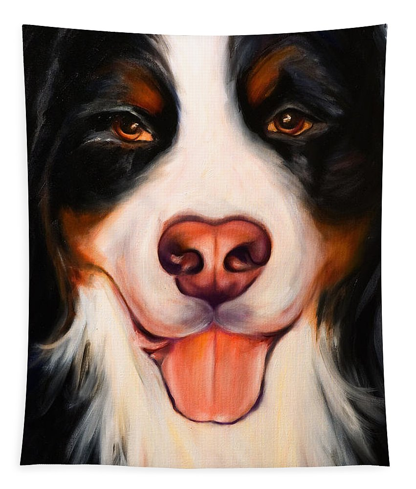 Dog Tapestry featuring the painting Big Willie by Shannon Grissom