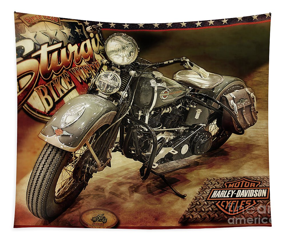 Motorcycles Tapestry featuring the photograph Bike Week by John Anderson