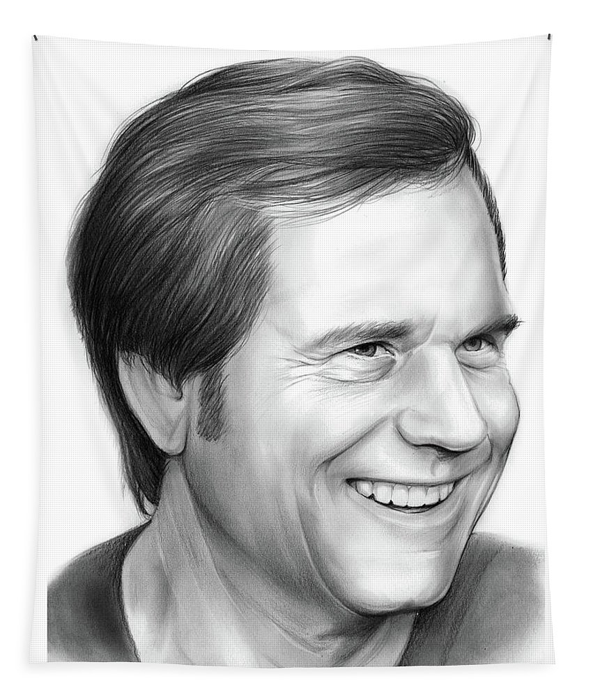 Bill Paxton Tapestry featuring the drawing Bill Paxton by Greg Joens