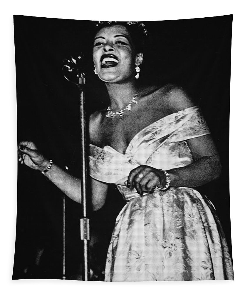 Billie Holiday Tapestry featuring the photograph Billie Holiday by American School