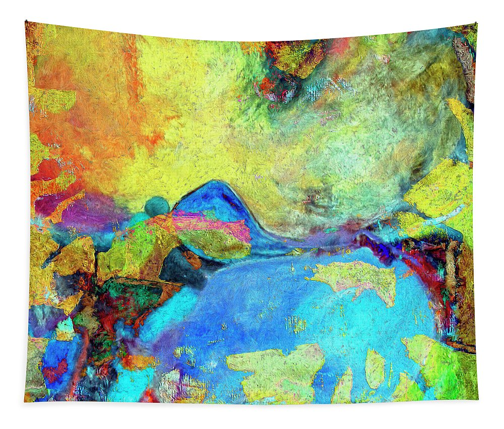 Abstract Tapestry featuring the painting Birdland by Dominic Piperata