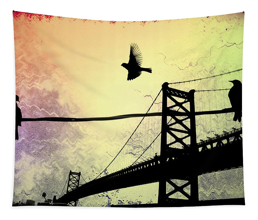 Birds Tapestry featuring the photograph Birds Eye View by Bill Cannon