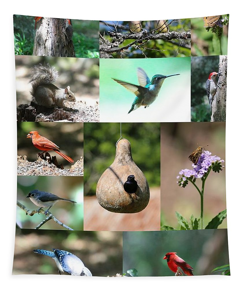 Nature Tapestry featuring the photograph Birdsong Nature Center Collage by Carol Groenen