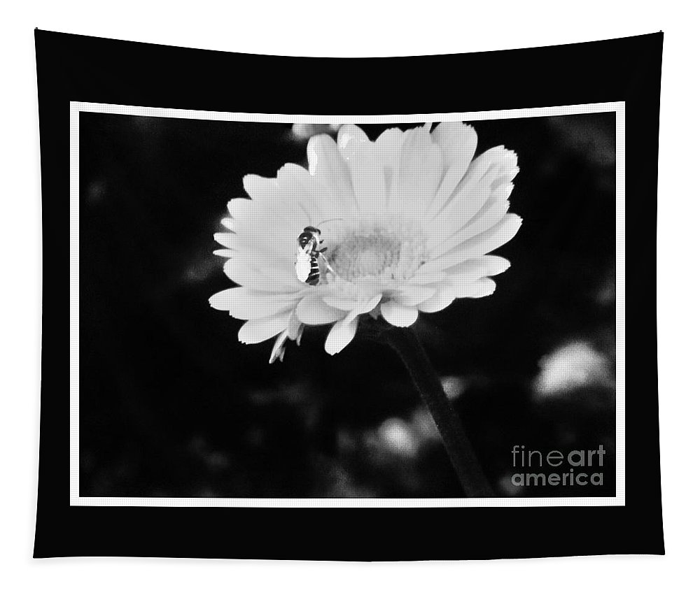 Flower Tapestry featuring the photograph Please Remember I Am A Bee On A Flower by Debra Lynch