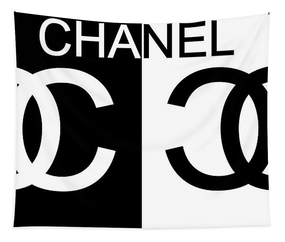 f390114925f Black And White Chanel Tapestry featuring the mixed media Black And White  Chanel 2 by Dan