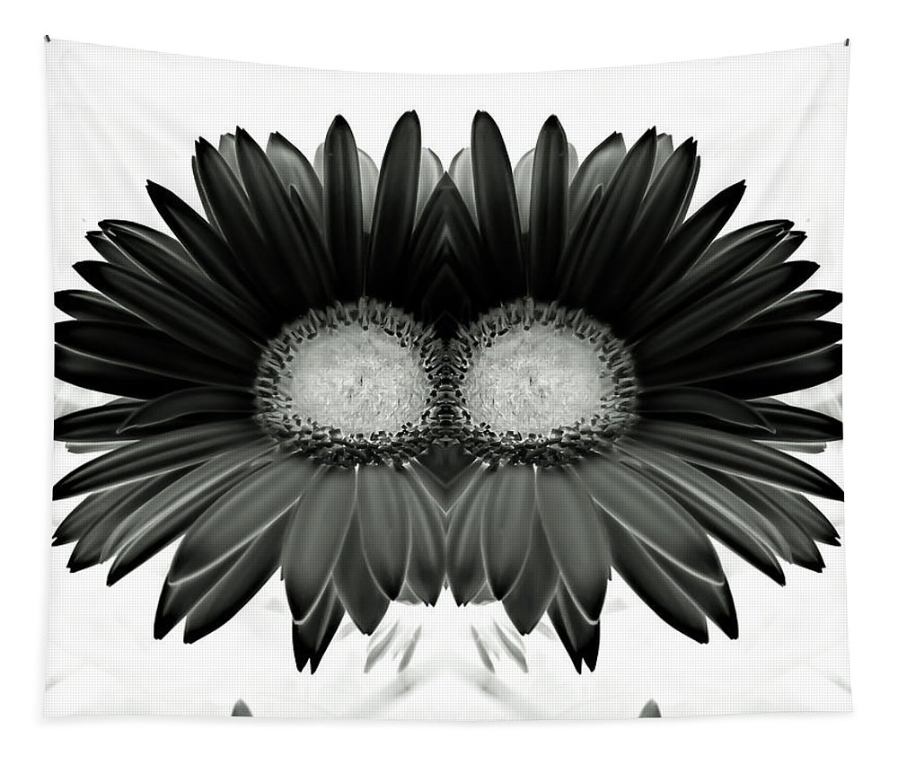 Flowers Tapestry featuring the photograph Black And White Petals by Heather Joyce Morrill