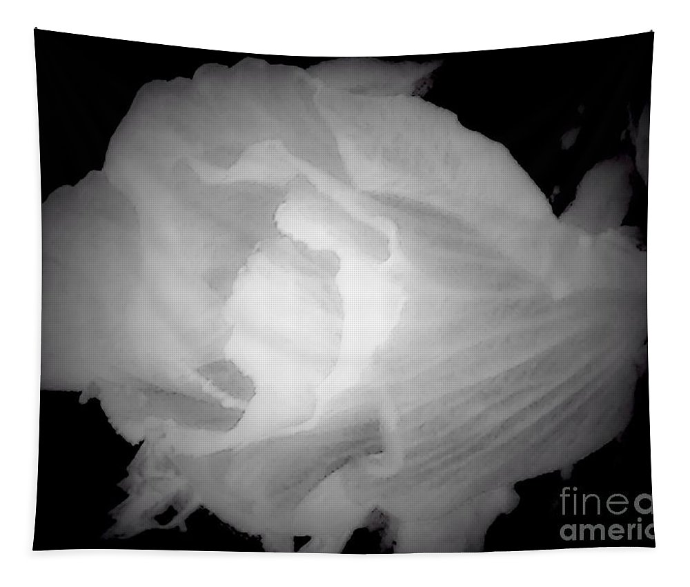 Black Tapestry featuring the photograph Black And White Rose Of Sharon by Debra Lynch