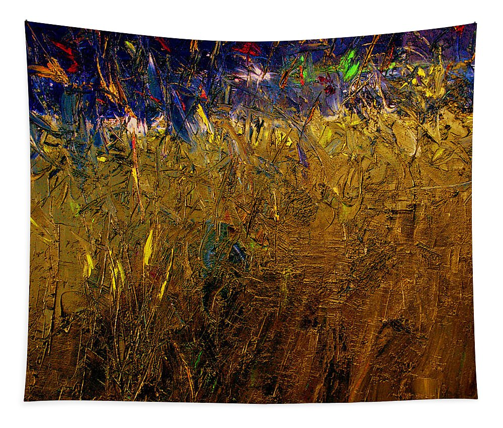 Abstract Tapestry featuring the painting Blades Of Grass by Ruth Palmer