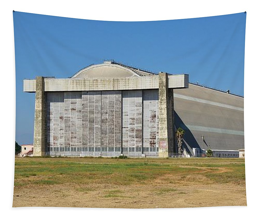 Linda Brody Tapestry featuring the photograph Blimp Hanger From Closed El Toro Marine Corps Air Station by Linda Brody