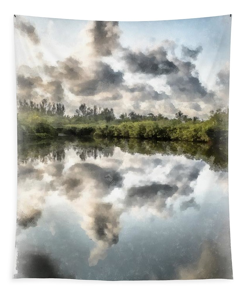 Blind Pass Tapestry featuring the photograph Blind Pass Bayou Sanibel Island Florida by Edward Fielding