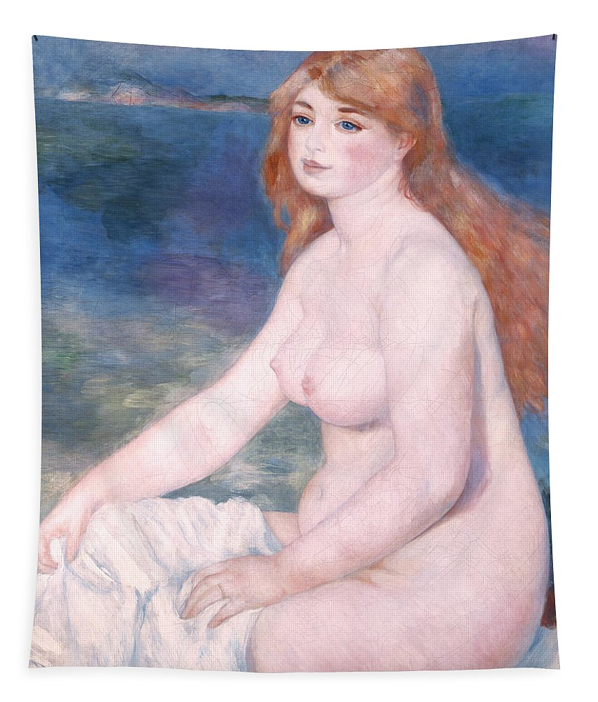 Bather Tapestry featuring the painting Blonde Bather II by Renoir