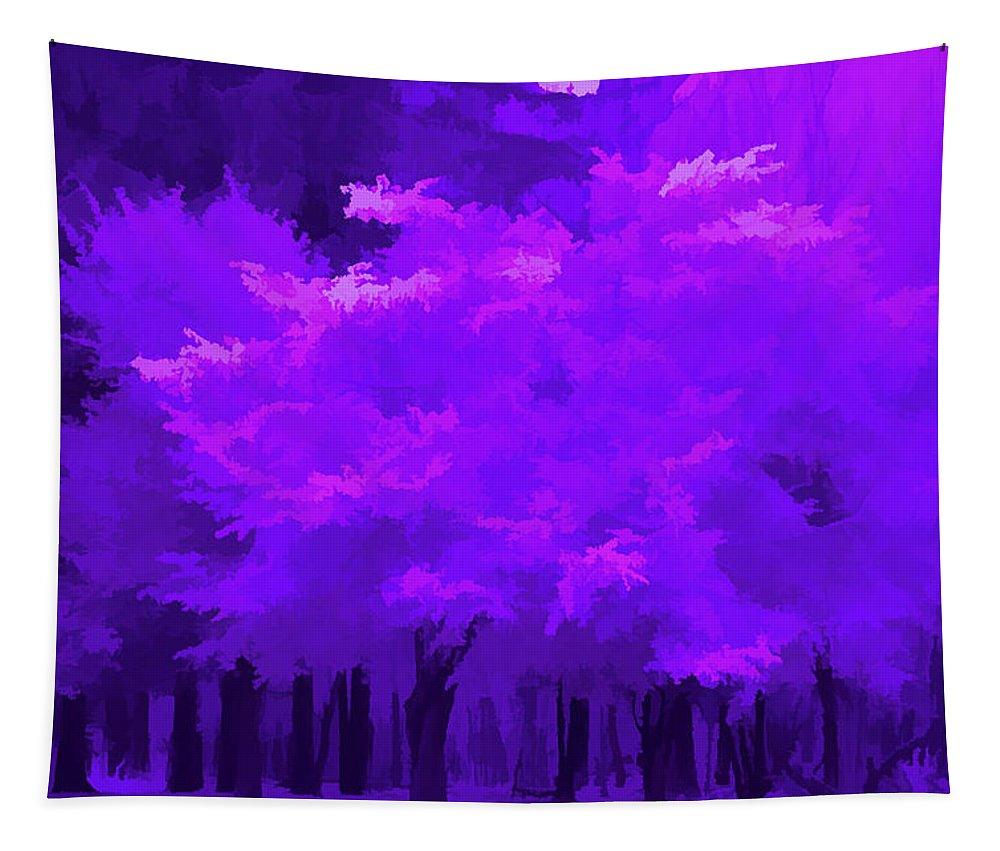 Tree Tapestry featuring the photograph Blooming Amethyst by Aimee L Maher ALM GALLERY