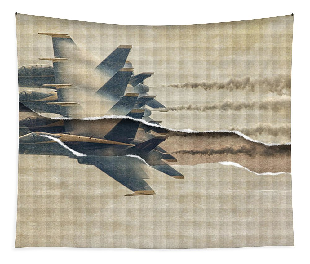 Alicegipsonphotographs Tapestry featuring the photograph Blue Angels Rip by Alice Gipson