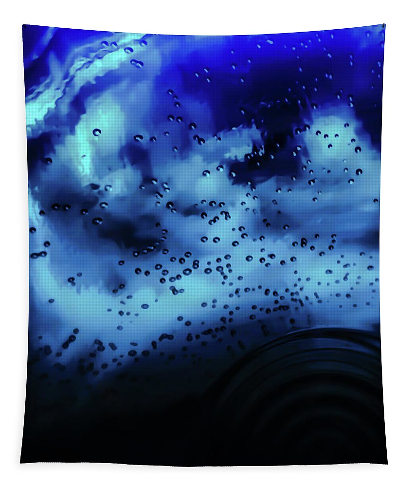 Blue Tapestry featuring the photograph Blue Bubbles by Heather Joyce Morrill