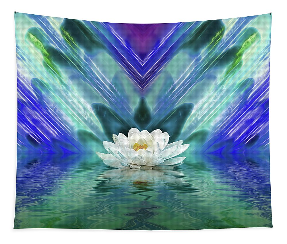 Seashell Tapestry featuring the photograph Blue Oasis by Gill Billington