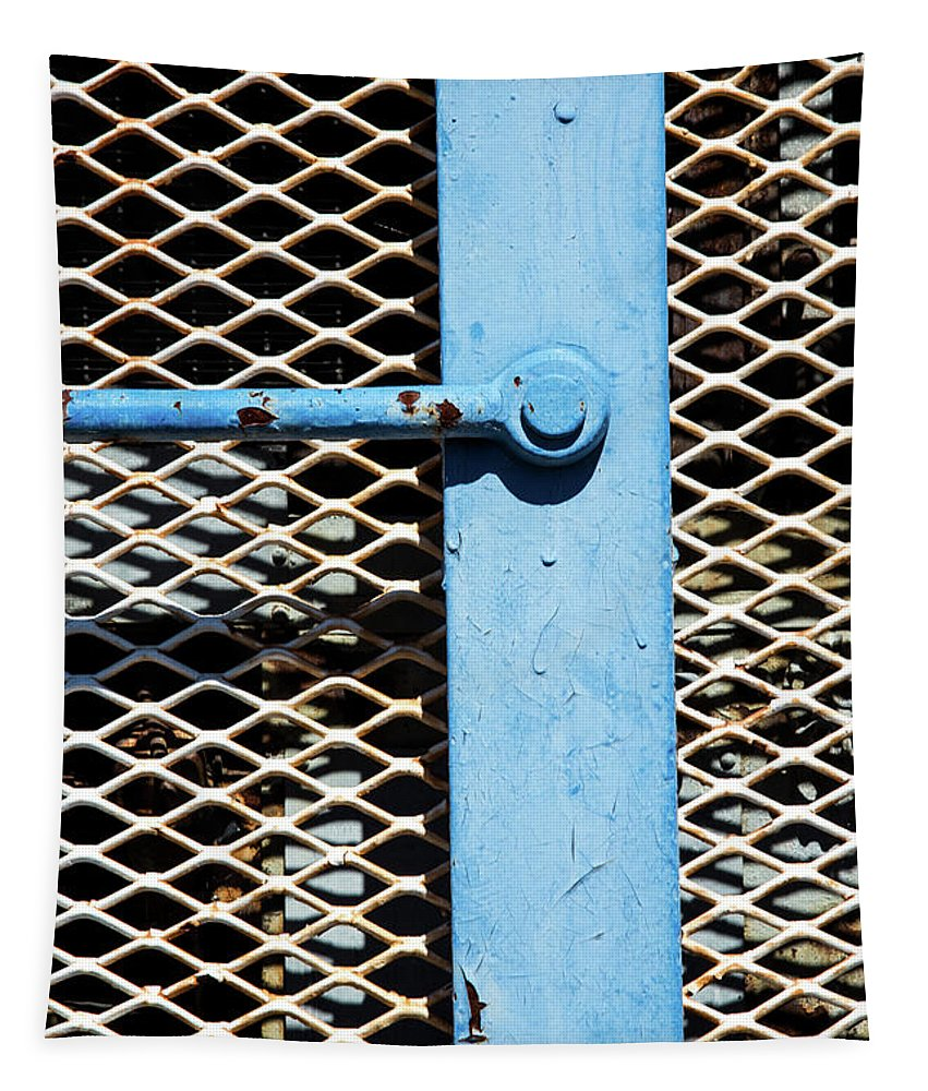 Major Rust Tapestry featuring the photograph Blue On White by Karol Livote