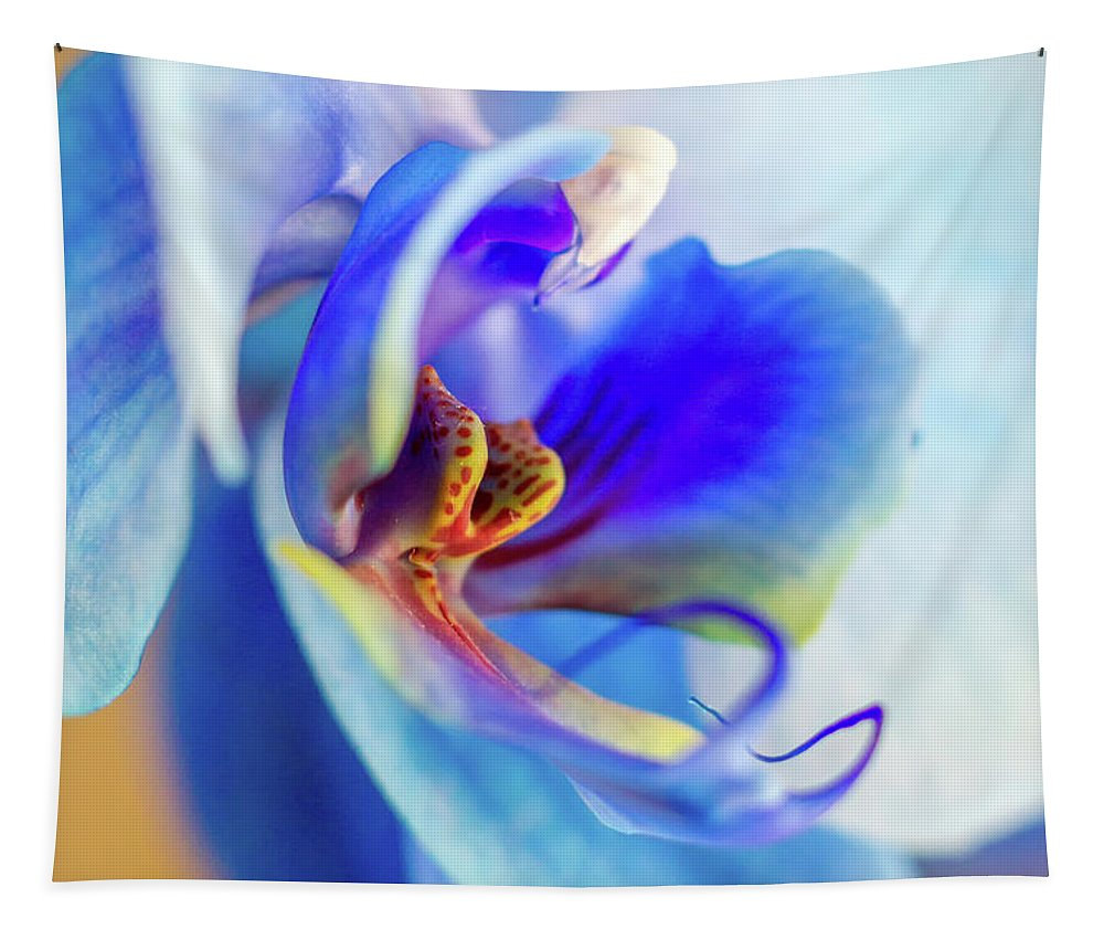 Blue Tapestry featuring the photograph Blue Orchid by Stelios Kleanthous