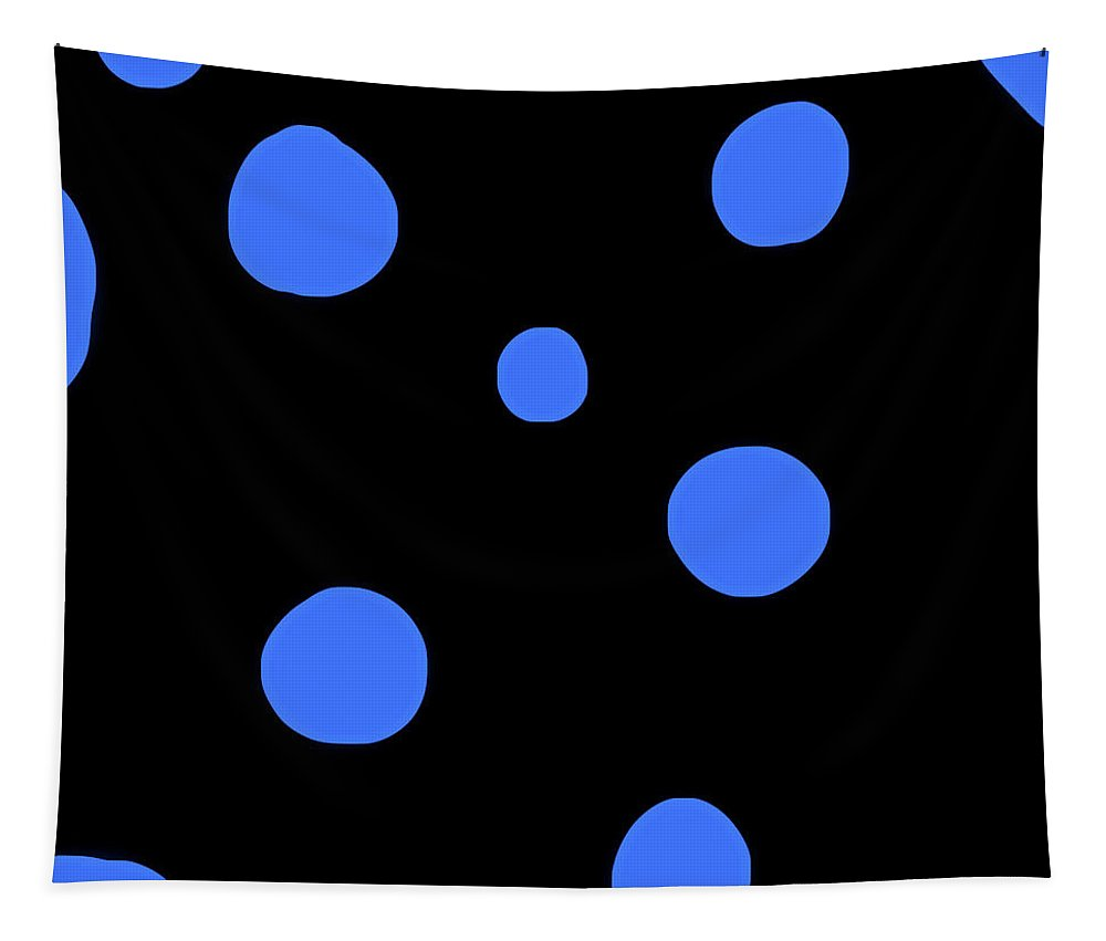 Tapestry featuring the photograph Blue Polka Dot Design Request by Heather Joyce Morrill