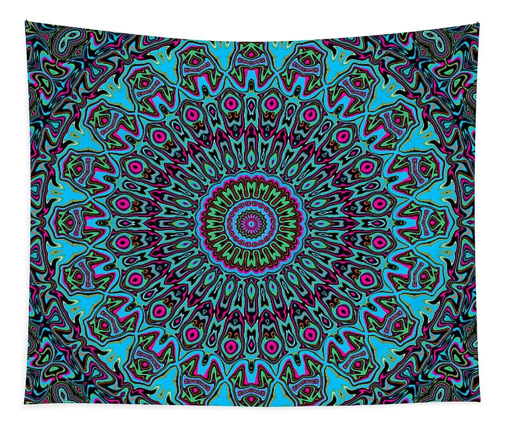 Digital Tapestry featuring the digital art Blue Riot by Joy McKenzie