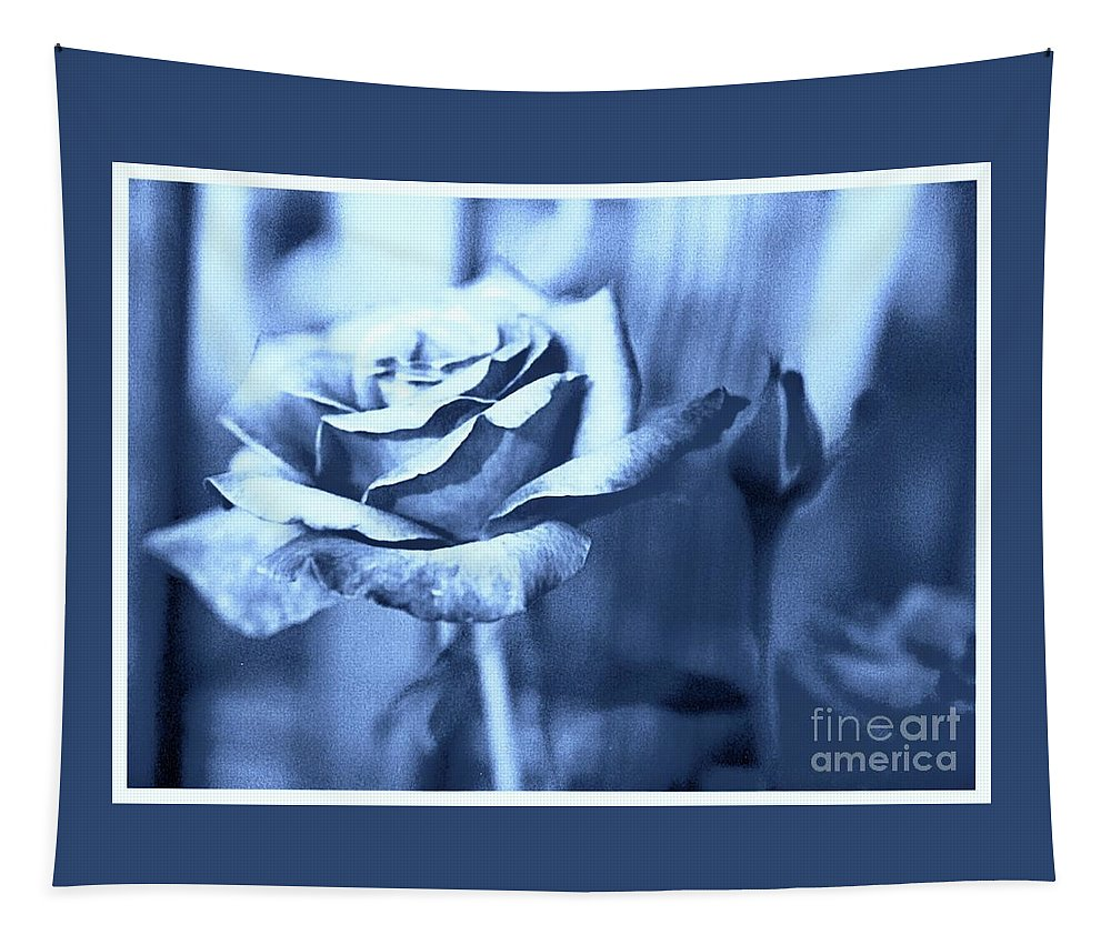 Rose Tapestry featuring the photograph Blue Rose by Debra Lynch