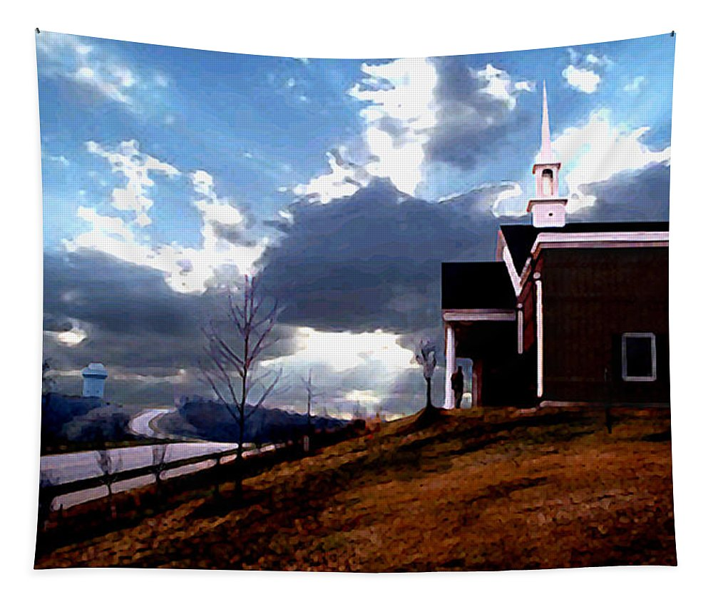 Landscape Tapestry featuring the photograph Blue Springs Landscape by Steve Karol