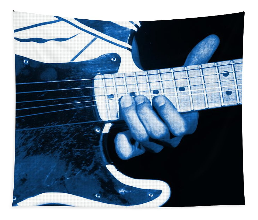 Van Halen Tapestry featuring the photograph Blue String Bender by Ben Upham