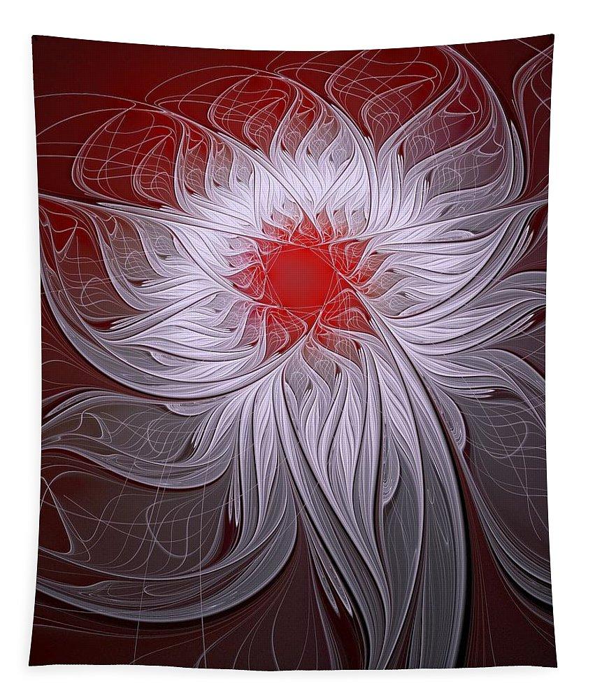 Digital Art Tapestry featuring the digital art Blush by Amanda Moore