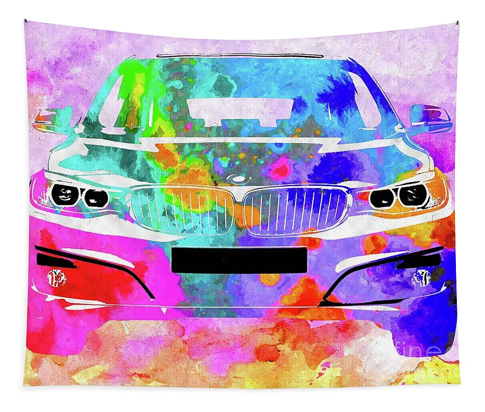 Bmw 3 Gran Turismo Tapestry featuring the mixed media Bmw 3 Gran Turismo by Daniel Janda