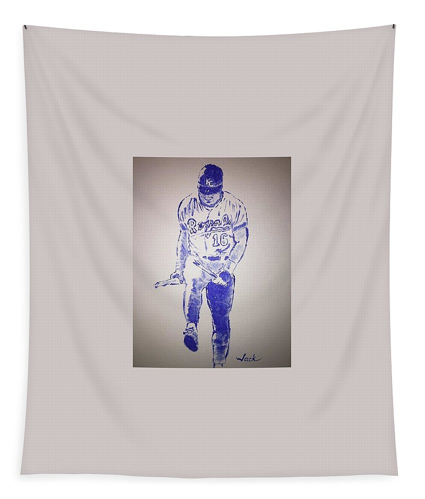 Bo Jackson Tapestry featuring the painting Bo Jackson by Jack Bunds