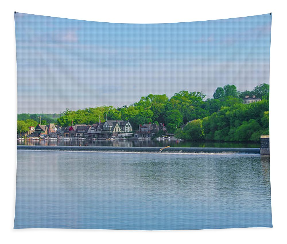 Boathouse Tapestry featuring the photograph Boathouse Row From Mlk Drive - Philadelphia by Bill Cannon