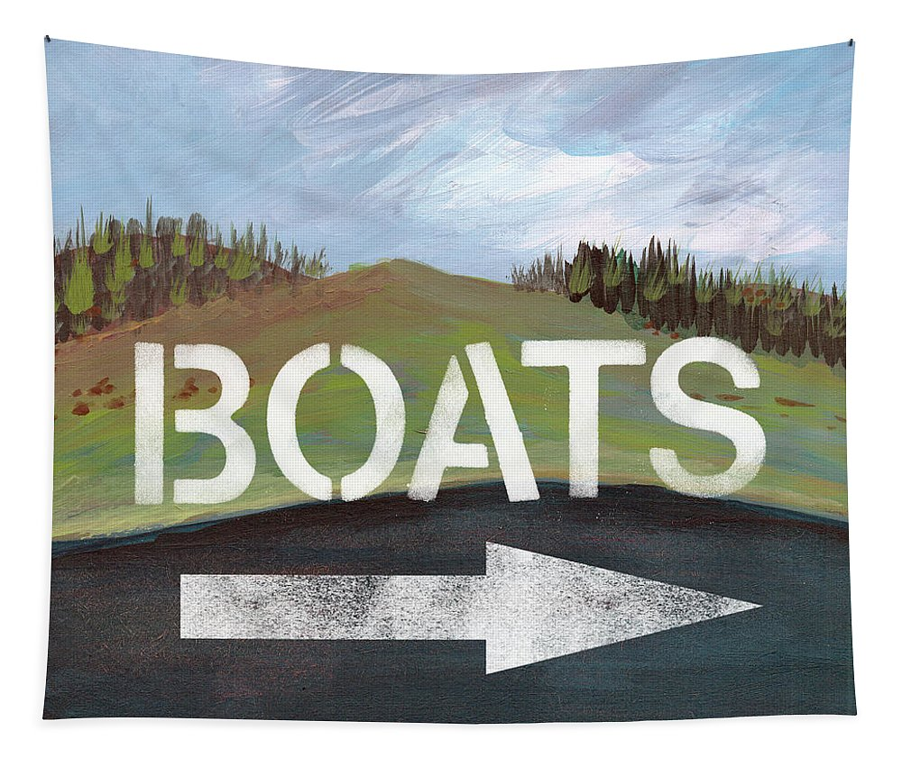 Boats Tapestry featuring the painting Boats- Art By Linda Woods by Linda Woods