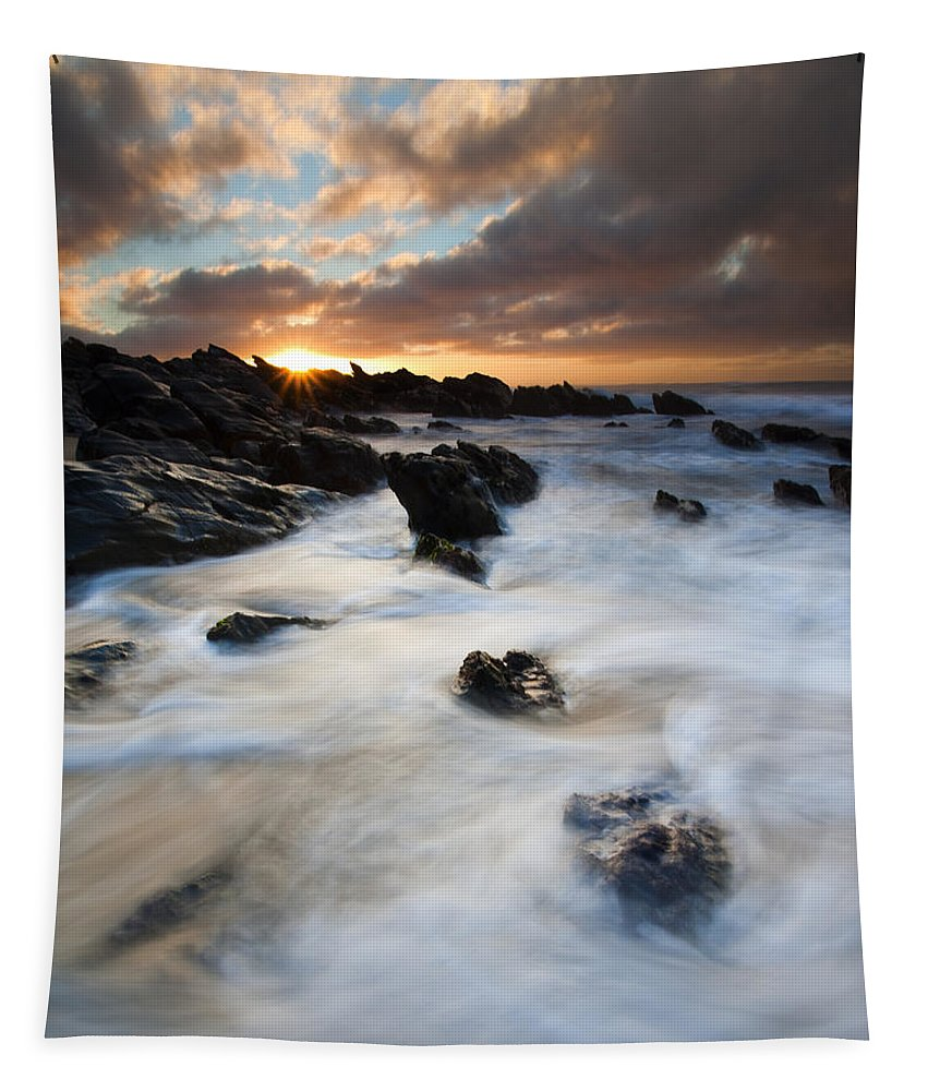 Sunrise Tapestry featuring the photograph Boiling Tides by Mike Dawson