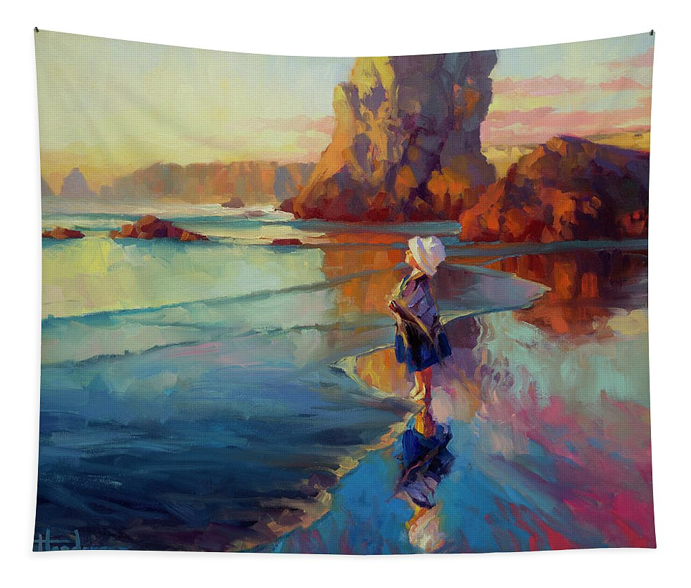 Child Tapestry featuring the painting Bold Innocence by Steve Henderson