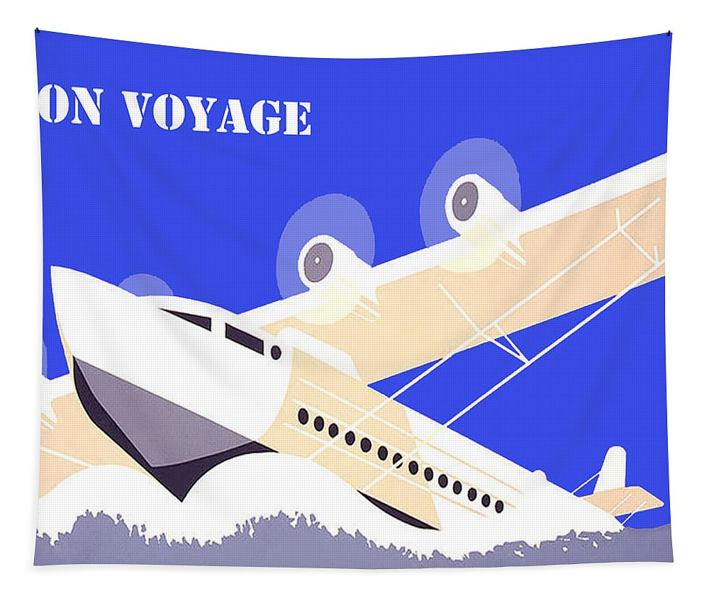 Greeting Card Tapestry featuring the digital art Bon Voyage 1 by Bruce