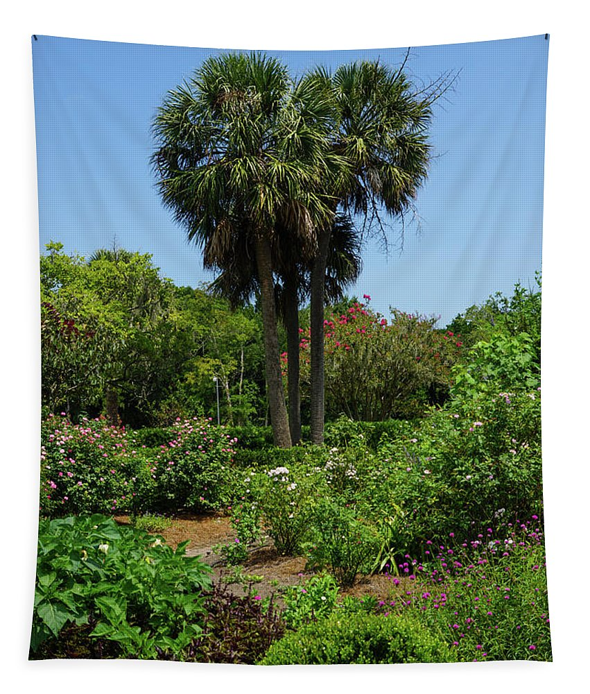 America Tapestry featuring the photograph Boone Hall Garden by Jennifer White