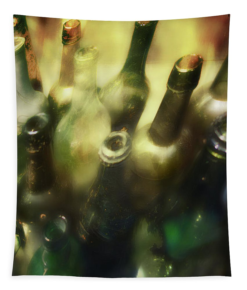 Bottles Tapestry featuring the photograph Bottles Of Color by John Anderson