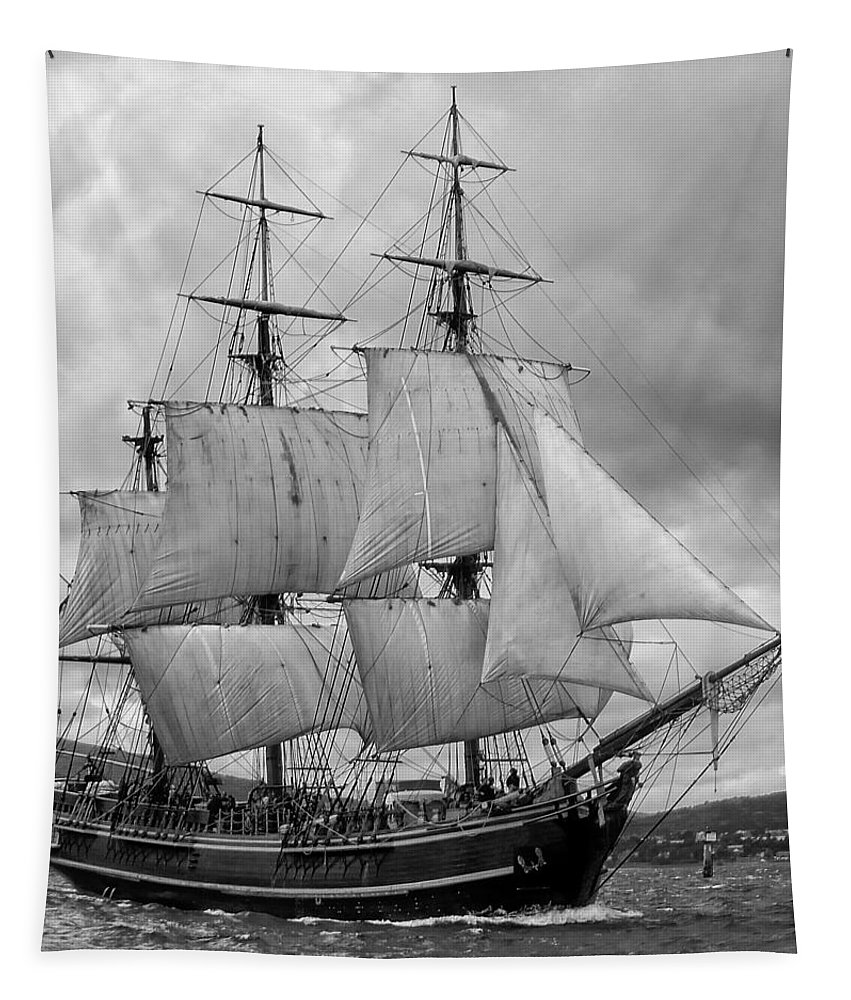 Tall Ship Tapestry featuring the photograph Bounty by John Hughes