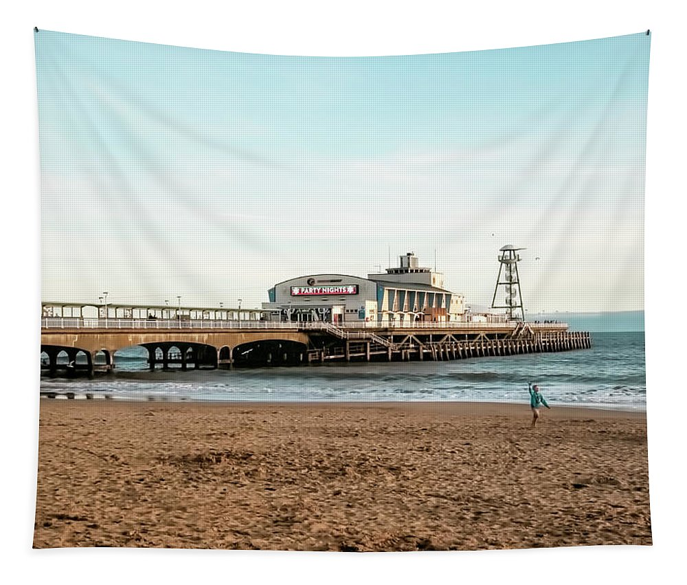 Bournemouth Pier No 2 Tapestry featuring the photograph Bournemouth Pier No 2 by Phyllis Taylor
