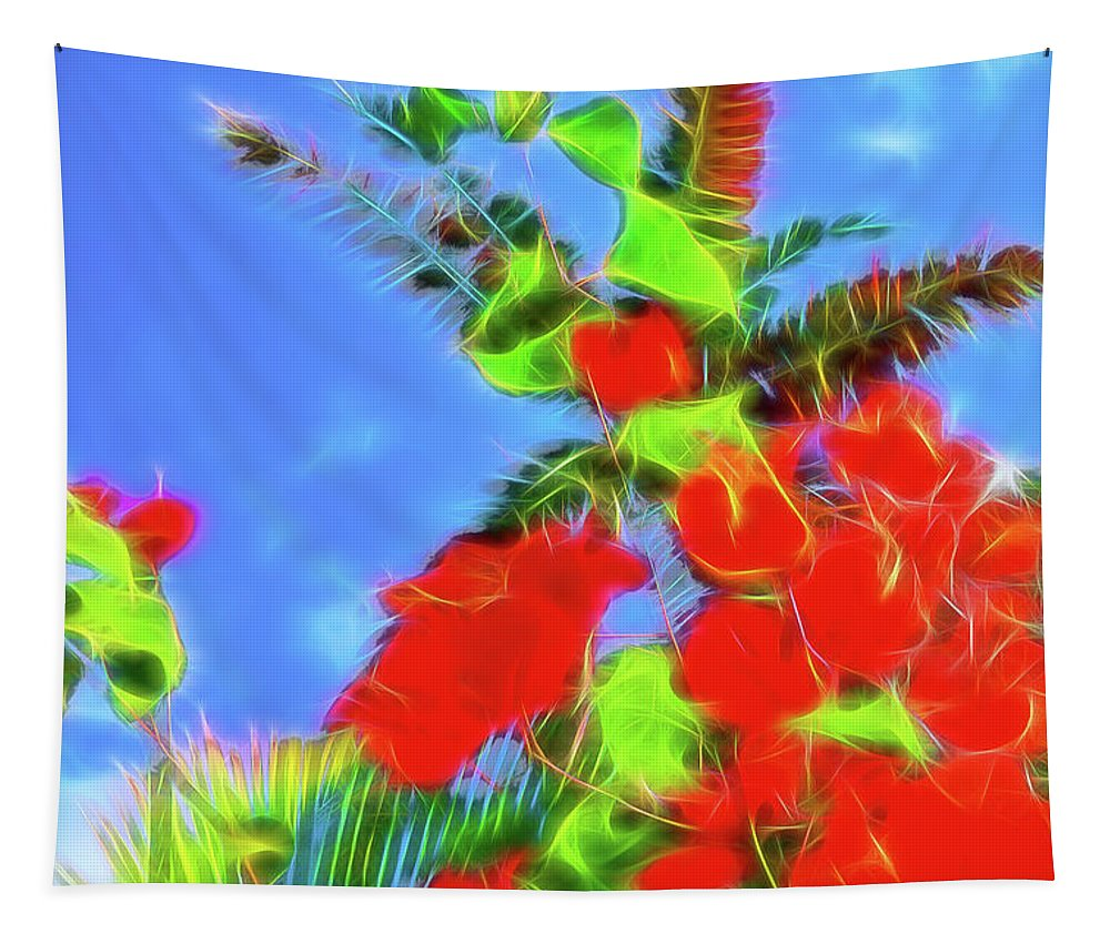 Bougainvillea Tapestry featuring the photograph Bougainvillea Glow by Kay Brewer