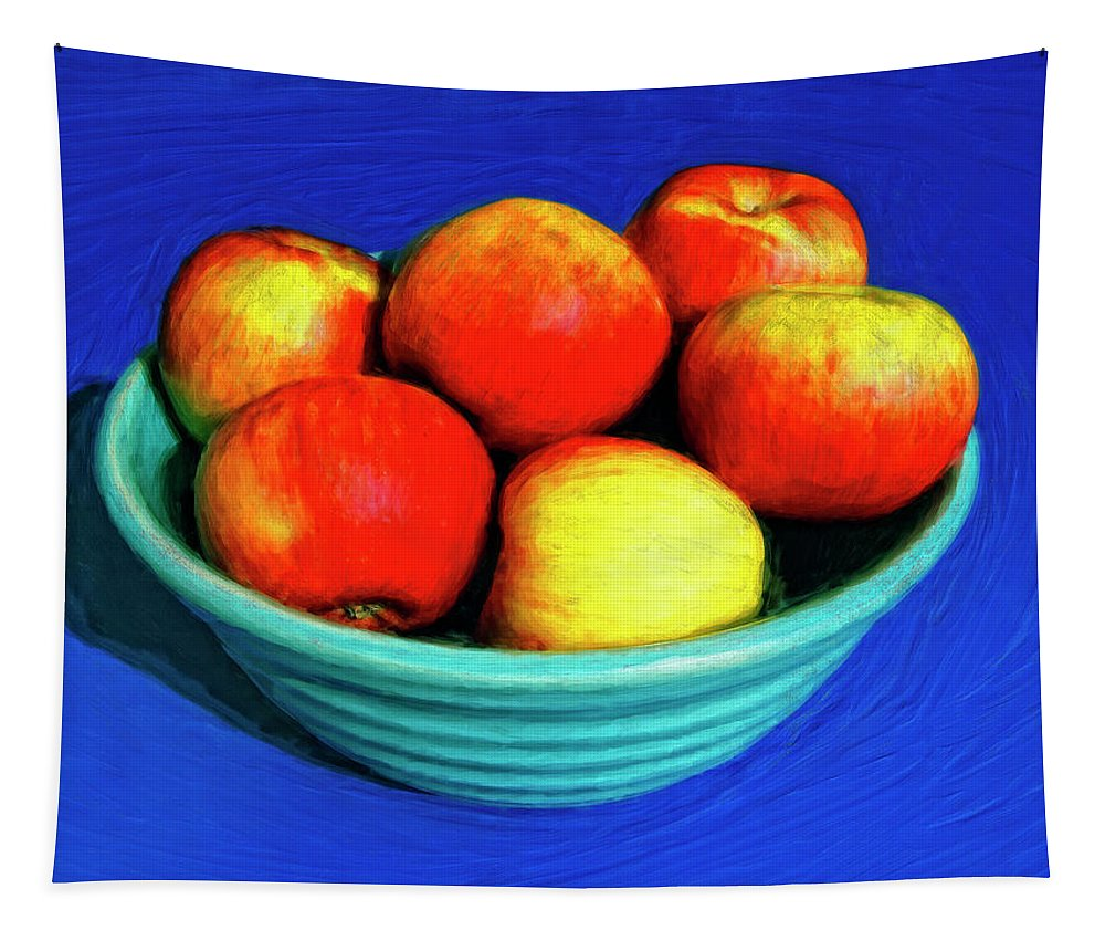Bowl Of Apples Tapestry featuring the painting Bowl Of Apples by Dominic Piperata